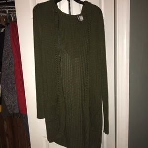 H &M hooded wide knit cardigan
